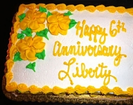 Liberty Assisted Living's 6th anniversary cake