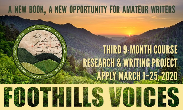 Foothills Voices 2020 - Amateur Writers Wanted