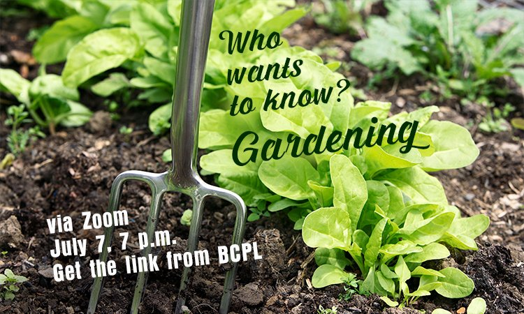 Who Wants To Know? Gardening